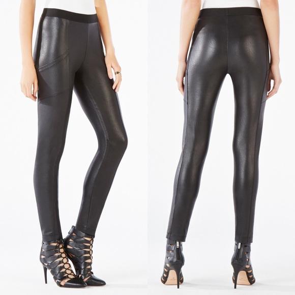 69ddaa3380791d BCBGMaxAzria Pants   Bcbg Faux Leather Leggings   Poshmark